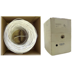 Plenum Security Cable, White, 16/2 (16 AWG 2 Conductor), Stranded, CMP, Pullbox, 1000 foot - Part Number: 11K6-0291SH