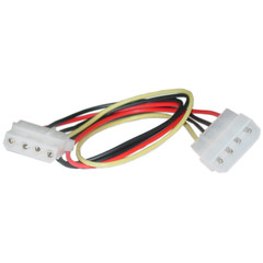 4 Pin Molex Extension Cable, 5.25 inch Male to 5.25 inch Female, 12 inch - Part Number: 11W3-04212