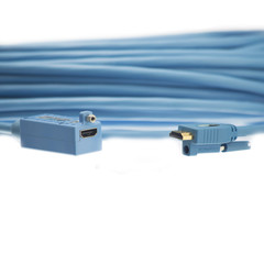 HDMI Fiber Optic Cable, Transmits HDMI Signals via Fiber, 15 meter (50 foot) - Part Number: 12V3-41150