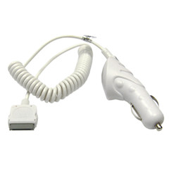 Apple IPod / Nano 4G Car Charger in White - Part Number: 13W1-39103