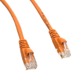 Cat6a Orange Ethernet Patch Cable, Snagless/Molded Boot, 500 MHz, 1 foot - Part Number: 13X6-03101