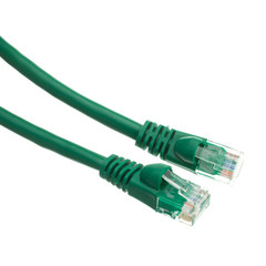 Cat6a Green Ethernet Patch Cable, Snagless/Molded Boot, 500 MHz, 1 foot - Part Number: 13X6-05101