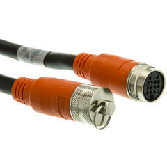 EZ Pull Audio/Video Runner Cable, Orange Booted Female, 15 foot - Part Number: 1500-03115