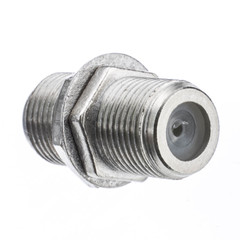 F-pin Coaxial Coupler, F-pin Female - Part Number: 200-053