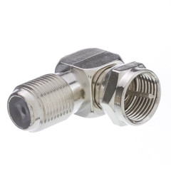 F-pin Right Angle Adapter, F-pin Female to F-pin Male - Part Number: 200-107