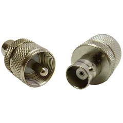 BNC Female to UHF (PL259) Male Adapter - Part Number: 200-195