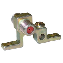 F-pin Coaxial Grounding Block,1 GHz, Single F-pin Female - Part Number: 200-274