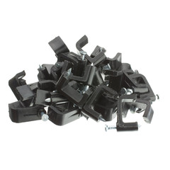 RG6 Dual Cable Clip, Black (100 pieces per bag) - Part Number: 200-962
