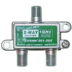F-pin Coaxial Splitter, 2 way, 1 GHz 90 dB - Part Number: 30X4-13202