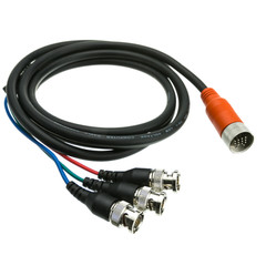 EZ Pull Orange Male to 3 BNC Male Adapter Cable 6 foot - Part Number: 25B3-03106