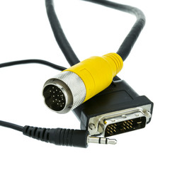 EZ Pull Yellow Male to DVI-D Male + 3.5mm Stereo Audio Male Adapter Cable 10 foot - Part Number: 25V1-28110