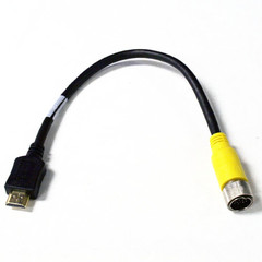 EZ Pull Yellow Male to HDMI Male Adapter Cable 1 foot - Part Number: 25V3-08101