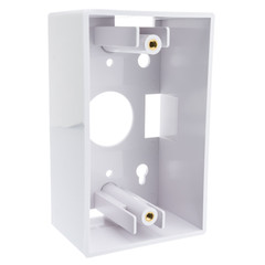 Single Gang Surface Mount Box, White - Part Number: 300-625WH