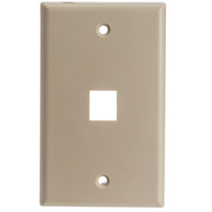 Keystone Wall Plate, Beige, 1 Hole, Single Gang - Part Number: 301-1K