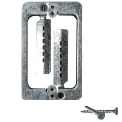 Wall Plate Mounting Bracket, Metal, Low Voltage, Single Gang - Part Number: 3031-13000