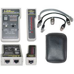 Lan Tester Network Cable tester, Pin Configuration/Wire Map Results - Part Number: 30D1-56551