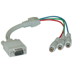 VGA to Component Video Adapter, HD15 Male to 3 x RCA Female (RGB), 1 foot * Not For Computer Use - Part Number: 30H1-50200