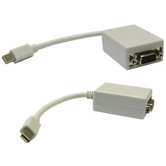 Mini DisplayPort to VGA Adapter Cable, Mini DisplayPort (MiniDP/mDP) Male to HD15 Female, Only works from DisplayPort to VGA, 6 inch - Part Number: 30H1-65000