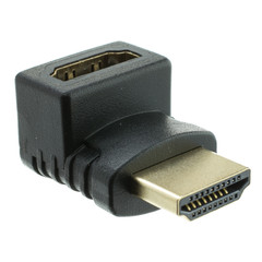 HDMI Right Angle Adapter, HDMI Male to HDMI Female, 90 Degree - Part Number: 30HH-50210