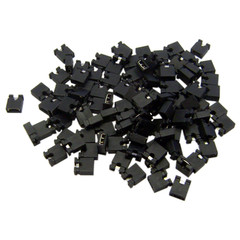 Computer Jumper For Hard Drive, CD/DVD Drive, Motherboard and/or Expansion Card Jumper blocks, 100 Piece, 2.54mm - Part Number: 30J1-00100
