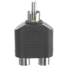 RCA Splitter / Adapter, RCA Male to Dual RCA Female - Part Number: 30R1-03300