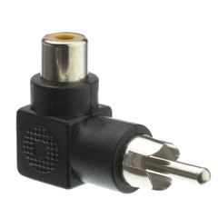 RCA Right Angle Adapter, RCA Female to RCA Male, 90 Degree Elbow - Part Number: 30R1-90300