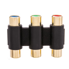 RCA Component Audio/Video Coupler / Gender Changer, 3 RCA Female (RGB) - Part Number: 30R2-00100
