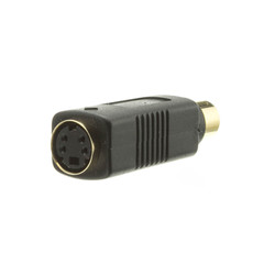 S Video to RCA Adapter, S-Video (MiniDin4) Female to RCA Female - Part Number: 30S2-05400