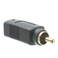 S Video to RCA Adapter, S-Video (MiniDin4) Female to RCA Male, Gold Connectors - Part Number: 30S2-05500