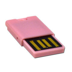 Micro SD USB 2.0 Card Reader, Pink, Key Chain / Charm - Part Number: 30U2-110PK