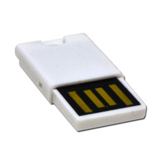 Micro SD USB 2.0 Card Reader, White, Key Chain / Charm - Part Number: 30U2-110WH