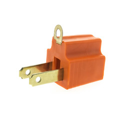 3 Prong to 2 Prong Grounding Converter for AC Outlet - Part Number: 30W1-32200
