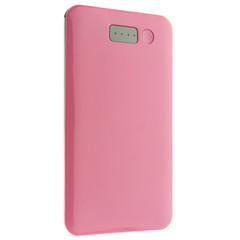 Power bank 5000 mAh USB Battery Backup, Pink - Part Number: 30W1-50040