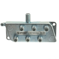 F-pin Coaxial Splitter, 6 Way - Part Number: 30X4-03206
