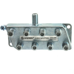 F-pin Coaxial Splitter, 8 Way - Part Number: 30X4-03208