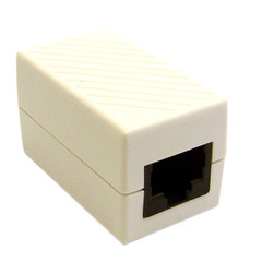Cat6 Coupler, White, RJ45 Female, Unshielded - Part Number: 30X8-02400WH
