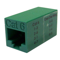 Cat6 Crossover Coupler, Green, RJ45 Female, Unshielded - Part Number: 30X8-33500