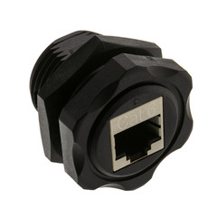 Shielded Outdoor Waterproof Cat6 Coupler, RJ45 Female to Female, Wall Plate Mount - Part Number: 30X8-70400