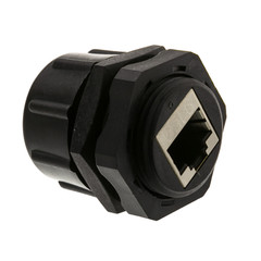 Shielded Outdoor Waterproof Cat6 Coupler, RJ45 Female to Female, With Cap, Wall Plate Mount - Part Number: 30X8-72000