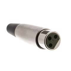 XLR Female Connector, Solder Type, 3 Conductor - Part Number: 30XR-07400