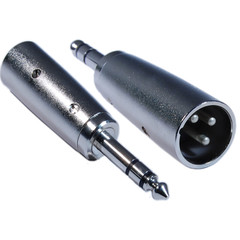XLR Male to 1/4 Stereo Male Adapter - Part Number: 30XR-14200