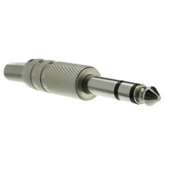 1/4 inch Male Stereo Connector, Solder Type, Metal - Part Number: 30XR-20200