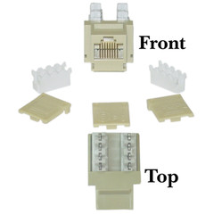 Cat5e Keystone Jack, Beige/Ivory, RJ45 Female to 110 Punch Down - Part Number: 310-120IV
