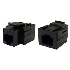 Cat5e Keystone Inline Coupler, Black, RJ45 Female - Part Number: 310-220BK