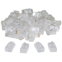Cat5 RJ45 Crimp Connectors for Solid and Stranded Cable, 8P8C, 100 Pieces (not for data network) - Part Number: 31D0-500HD