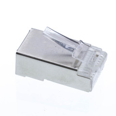 Shielded Cat5e RJ45 Crimp Connectors for Solid and Stranded Cable, 8P8C, 50 Pieces - Part Number: 31D0-51007