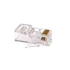 Cat6 RJ45 Crimp Connectors for Solid and Stranded Cable, 8P8C, 100 Pieces - Part Number: 31D0-580HD