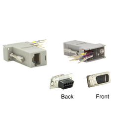 Modular Adapter, Gray, DB9 Male to RJ45 Jack - Part Number: 31D1-17200