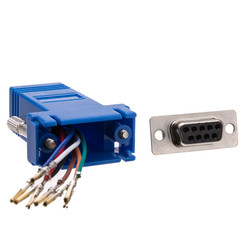 Modular Adapter, Blue, DB9 Female to RJ45 Jack - Part Number: 31D1-1740BL