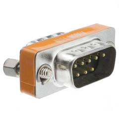 Mini Null Modem Adapter, DB9 Male to DB9 | Male - Part Number: 31D1-28100